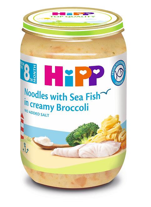 Organic Noodles with Sea Fish in Creamy Broccoli 220g