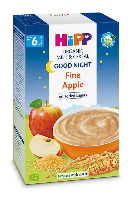 Organic Good Night Milk Pap Fine Apple 250g