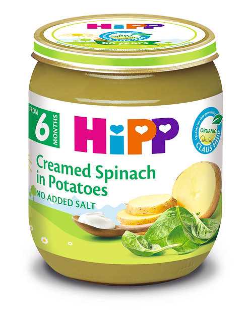 Organic Creamed Spinach with Potatoes