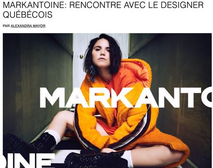 MARKANTOINE: RENCONTRE AVEC LE DESIGNER QUÉBÉCOIS