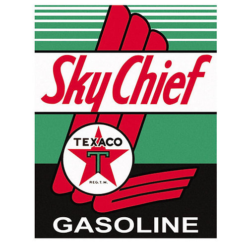 Sky Chief Gasoline Retro Metal Sign