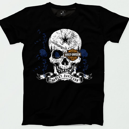 Harley Davidson Skull Eye patch T-Shirt