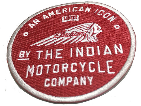 Indian Motorcycle American Icon 1901 Iron on Badge