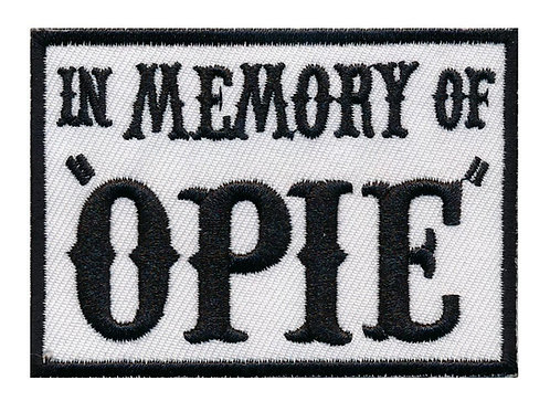 In Memory of Opie Iron on Patch