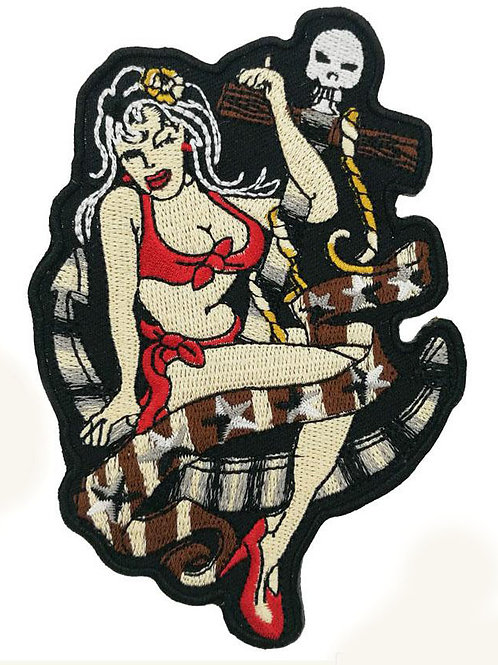 Sexy Nautical Lady Iron on Patch