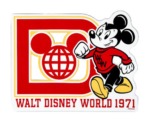 Walt Disney World 1971 Micky Mouse Car Magnet