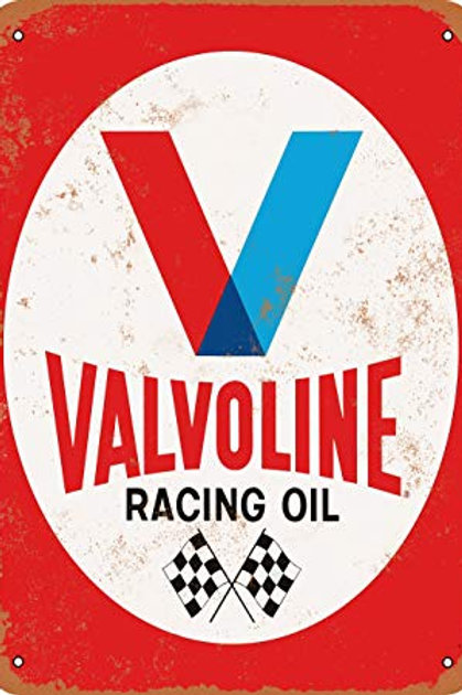 Valvoline Racing Oil Retro Metal Sign
