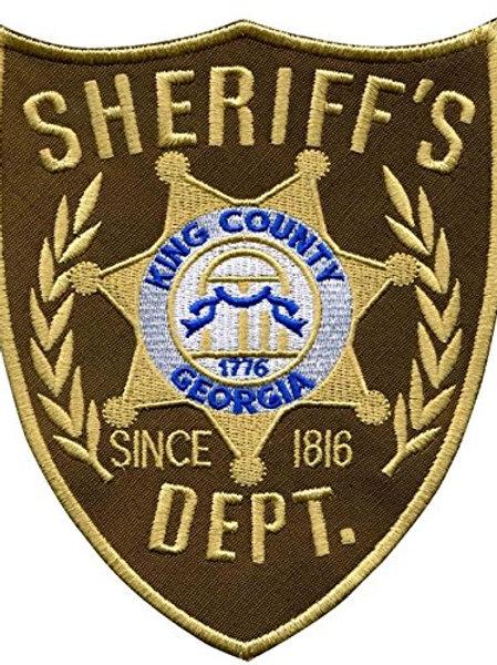 King County Walking Dead Sheriff's Iron on Badge