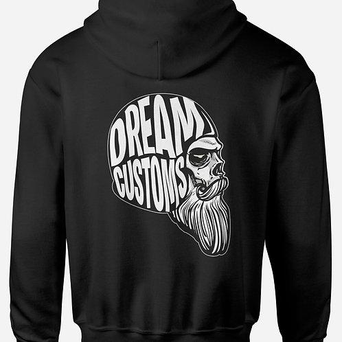 Skull Beard Motorbike Hoodie