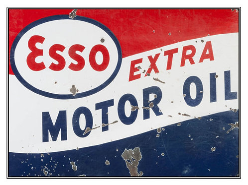ESSO Extra Motor Oil Metal Sign
