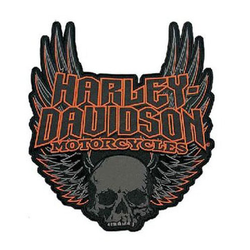 Harley Davidson Skull Wings Iron on Patch