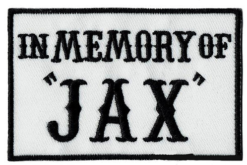 In Memory of Jax Iron on Patch