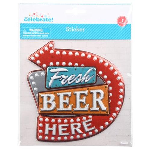 Fresh Beer Here 3D Sticker