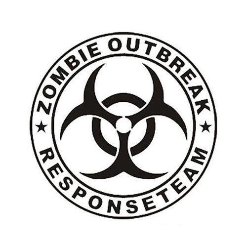 Zombie Outbreak Bio-hazard Bumper Sticker