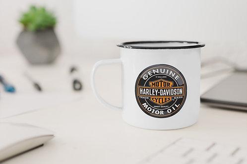 Harley Davidson Enamel Mug