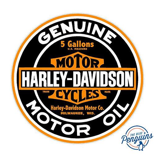 Harley Davidson Round Motor Oil