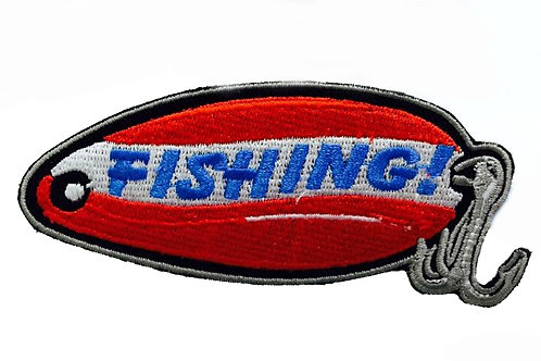 Fishing Iron On Patch