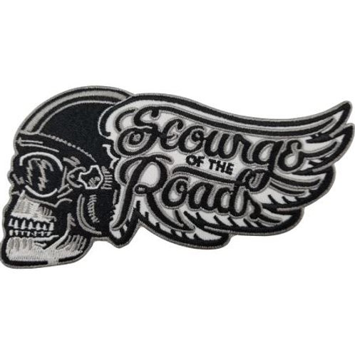 Scourge of the Road Motorcycle Iron on Badge