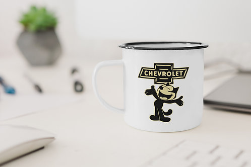 Felix Chevrolet Enamel Mug