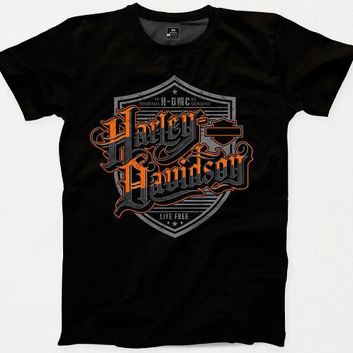 Harley Davidson Script Live Free T-Shirt