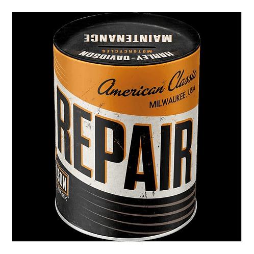 Harley Davidson Repair Service Metal Money Box