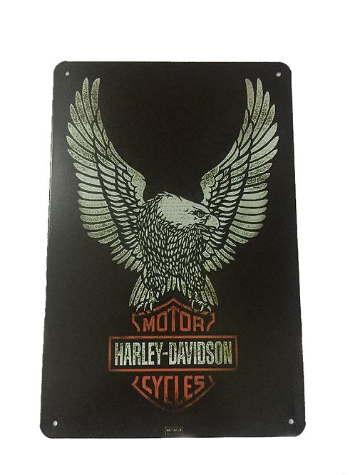 Harley Davidson Eagle Metal Sign