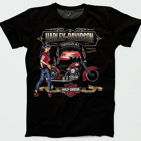 Harley Davidson Pin Up T-Shirt