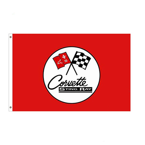 Corvette Sting Ray Tailgating Flag
