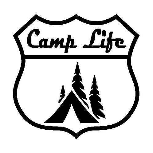 Camp Life Bumper Sticker
