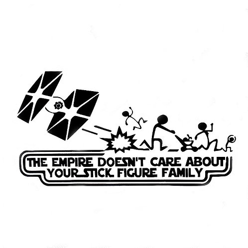 The Empire Doesn't Care Bumper Sticker