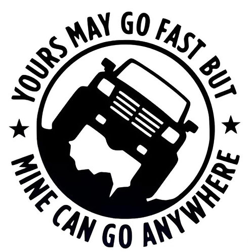 Yours May Go Fast Bumper Sticker