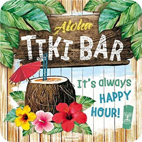Aloha Tiki Bar Coaster