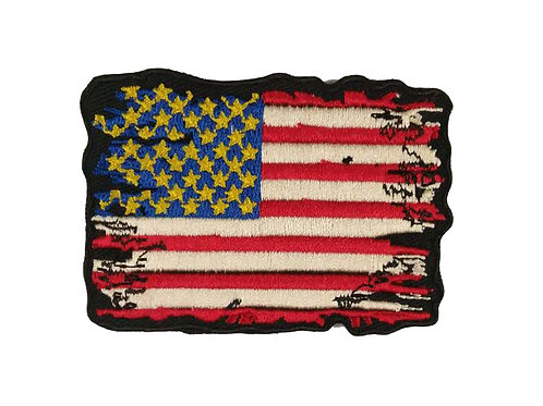 American Flag Biker Iron on Patch