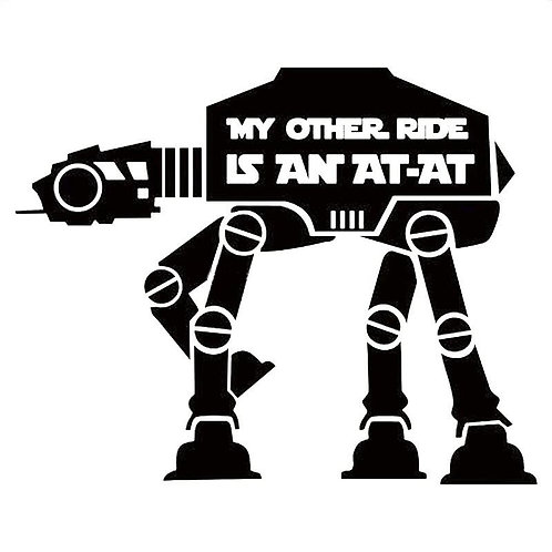 My Other Ride is an At-At Bumper Sticker
