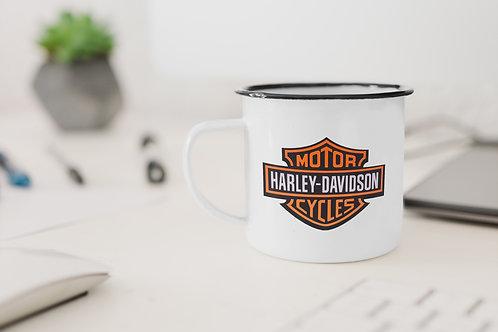 Harley Davidson Badge Enamel Mug
