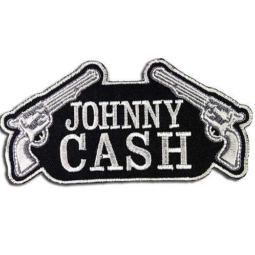 Johnny Cash Double Guns Iron on Badge
