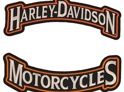Harley Davidson Large Rocker Patch Set