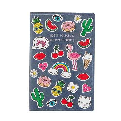 Patches & Pins Sticker Notebook