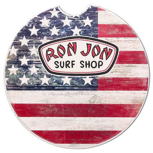 The Ron Jon Stars & Stripes Flag Car Coaster