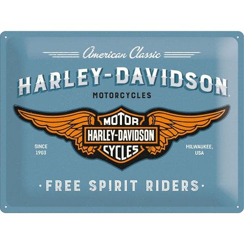 Harley Davidson Wings Metal Sign