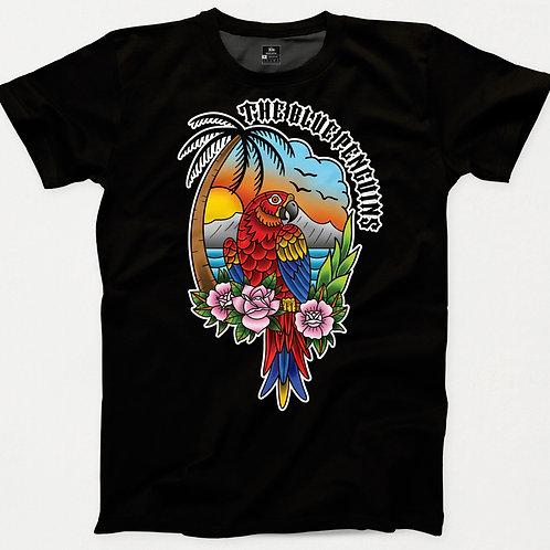 Tropical Parrot TBP Traditional Tattoo T-Shirt