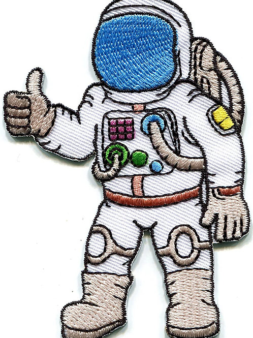 Spaceman Iron on Patch