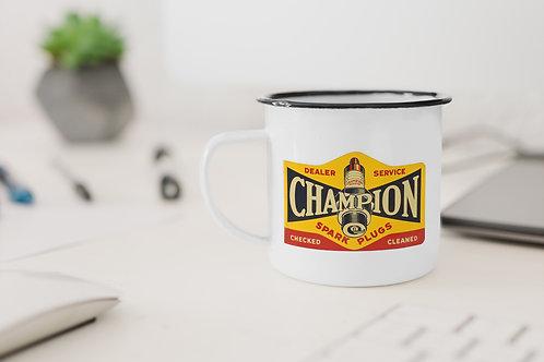 Champion Spark Plugs Enamel Mug
