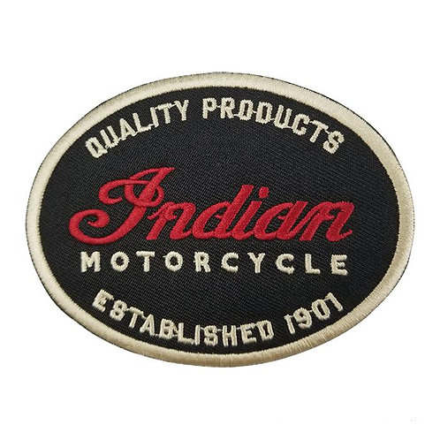 Oval Indian Motorcycle   Iron on Badge