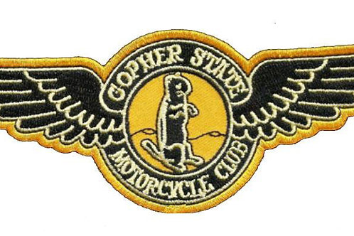 Gopher State Motorcycle Iron on Badge