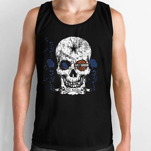 Harley Davidson Skull Eye patch Tank Top