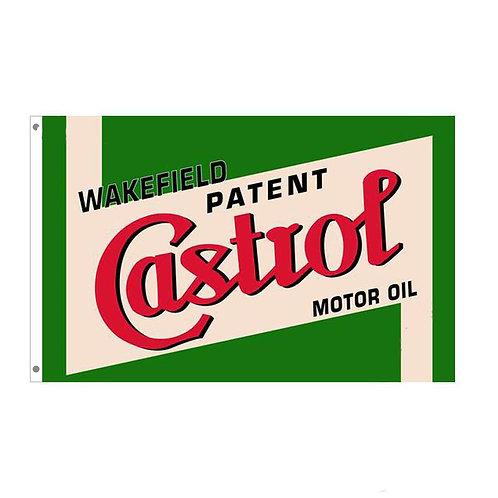 Castrol Patent Motor Oil Flag