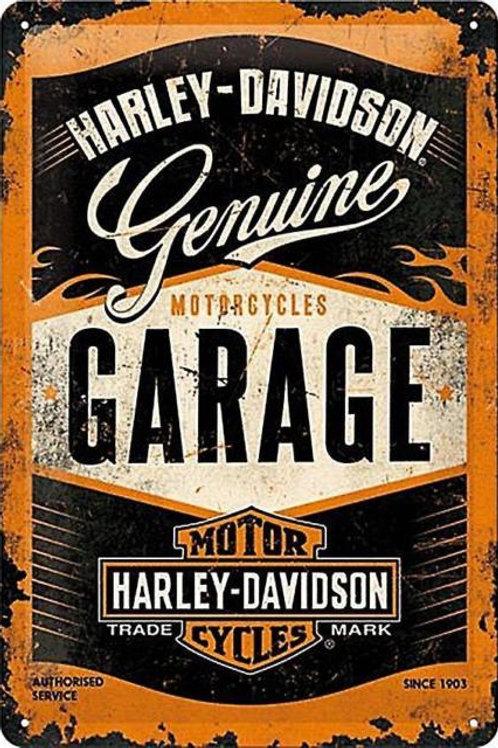 Harley Davidson Garage Metal Sign
