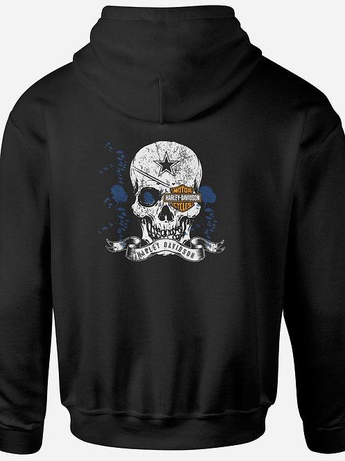 Harley Davidson Skull Eye Patch Hoodie