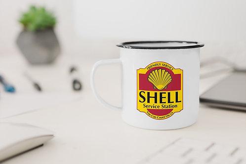 Shell Service Station Enamel Mug